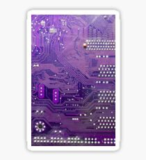 mauve electronic circuit board Sticker