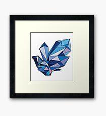 blue diamond Framed Print