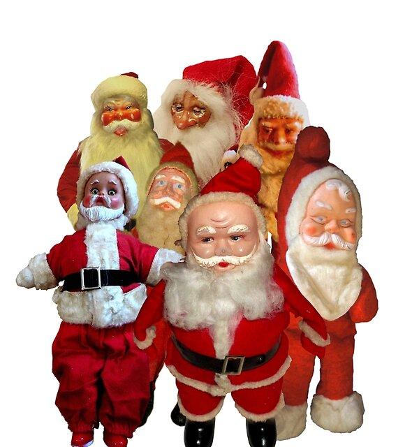 Weinlese-Weihnachten Santa Thugs Collage von hilda74