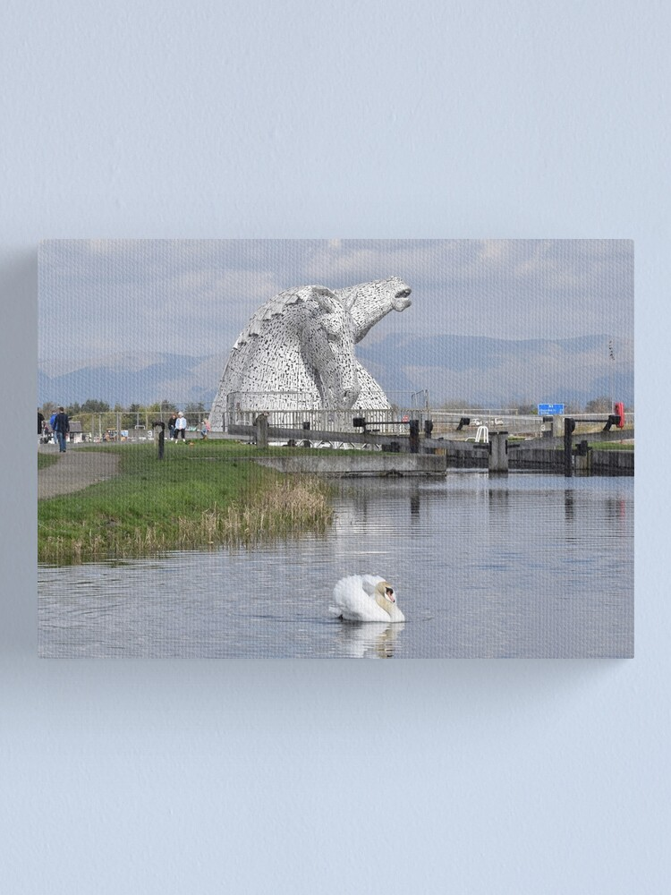 Alternate view of The Kelpies Canvas Print