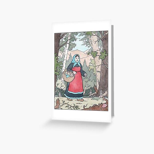 Babushka on her travels Greeting Card