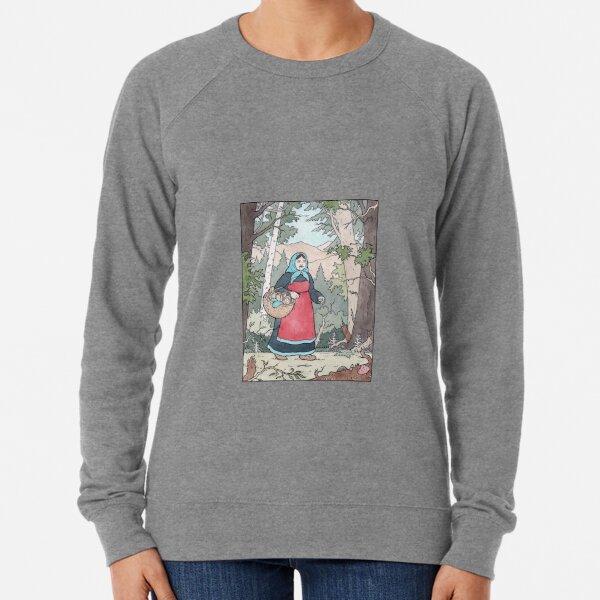 Babushka on her travels Lightweight Sweatshirt