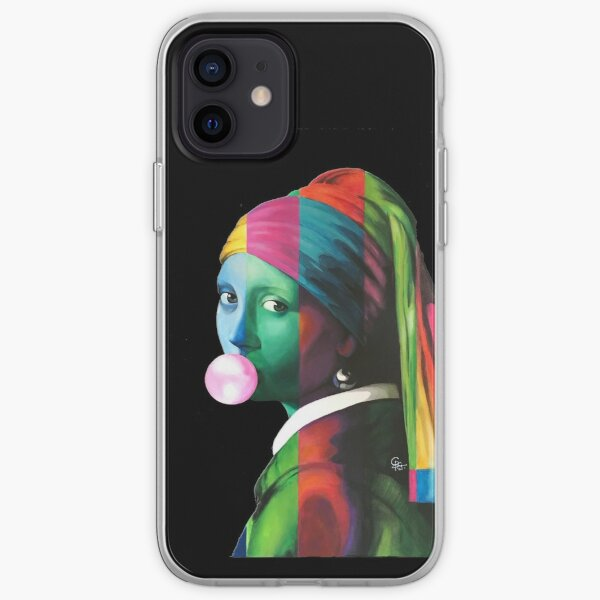 Pop Vermeer Bubble Girl iPhone Soft Case