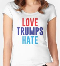 Love Trumps Hate Women's Fitted Scoop T-Shirt