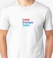 Love trumps hate.  Unisex T-Shirt