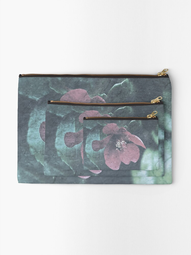 Alternate view of Icy Quince  Zipper Pouch