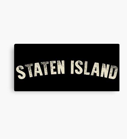 STATEN ISLAND LETTERPRESS Canvas Print