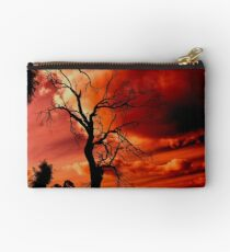 red sky at night Studio Pouch