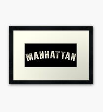 MANHATTAN LETTERPRESS Framed Print