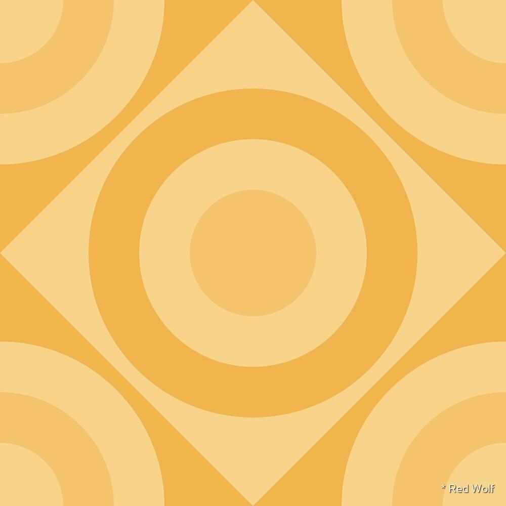 Geometric Pattern: Rondel Diamond: Lemon by * Red Wolf