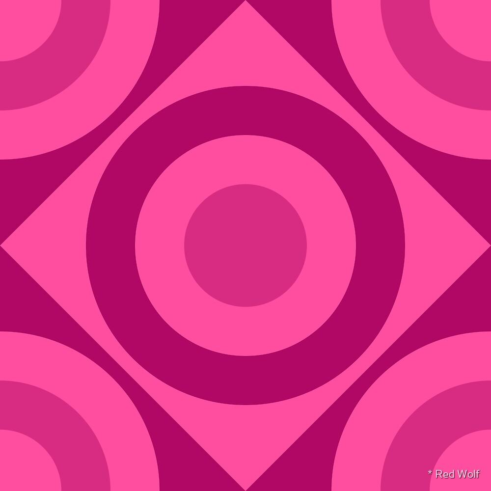 Geometric Pattern: Rondel Diamond: Berry by * Red Wolf
