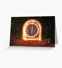Urban sparks with steel wool Greeting Card