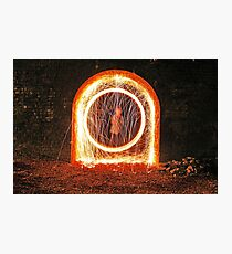 Urban sparks with steel wool Photographic Print