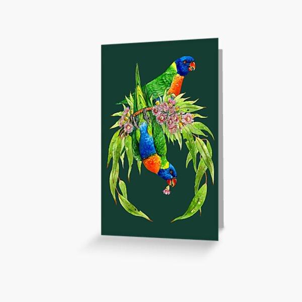 Rainbow Lorikeets Greeting Card