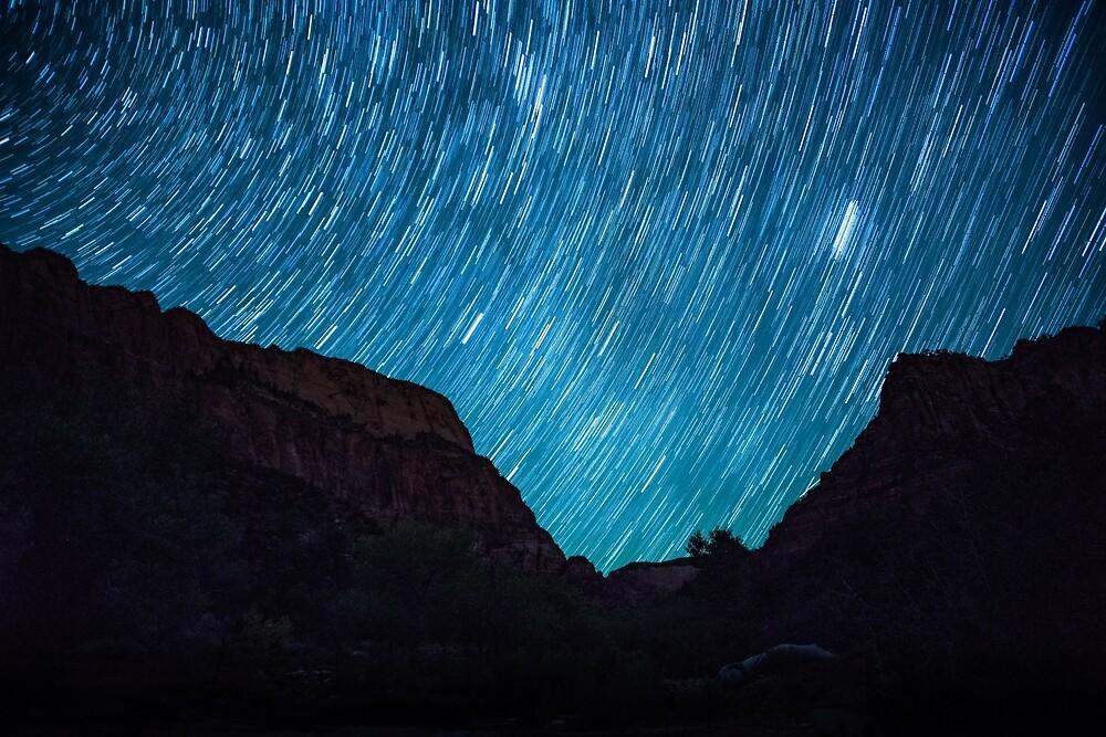 Stars Over Kolob Canyon by Nathan Gross