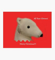 All That Glitters: Polar Bear with Ear-ring Photographic Print