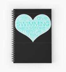I Love Swim  Spiral Notebook