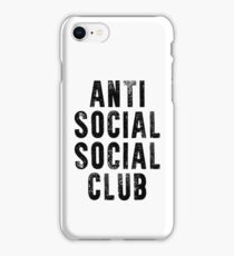 ANTI SOCIAL SOCIAL CLUB iPhone Case/Skin