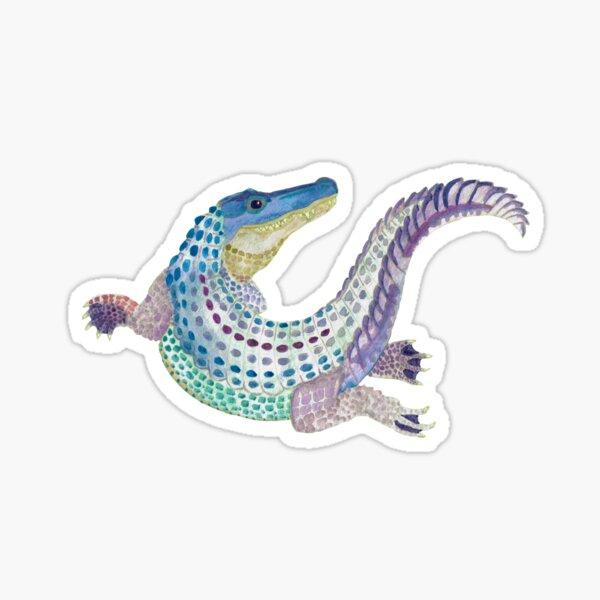 Watercolor Alligator Sticker