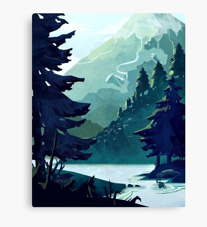 Canadian Mountain Canvas Print