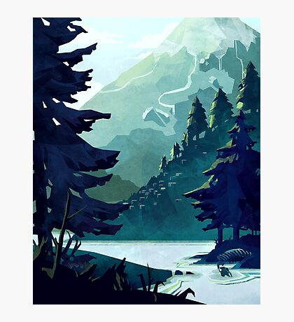 Canadian Mountain Photographic Print