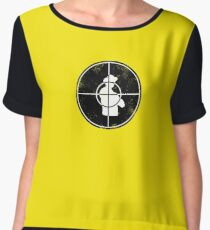 Central Intelligence - Target (Faded as worn in the film) Bob Stone Women's Chiffon Top