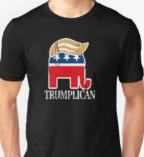 Funny and Bold Trump Elephant with Hair - TRUMPLICAN T-Shirt