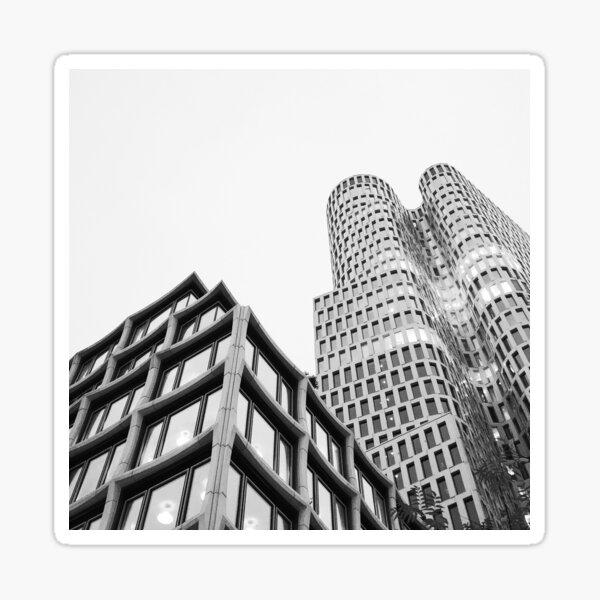 Berlin City Facade Photography Black & White Sticker