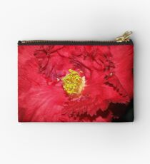 Red Camellia, Red Frilly   Studio Pouch