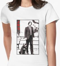 John Wick and his dog Womens Fitted T-Shirt