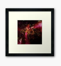 Time Lord Writing (red) Framed Print