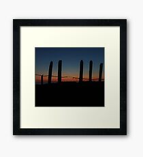 Barbed Wire Sunset  Framed Print