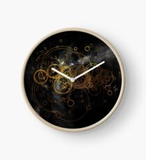 Time Lord Writing (black) Clock