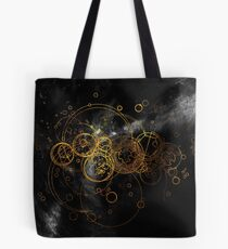 Time Lord Writing (black) Tote Bag