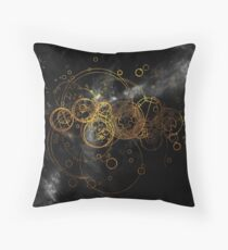 Time Lord Writing (black) Throw Pillow