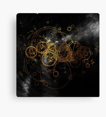 Time Lord Writing (black) Canvas Print