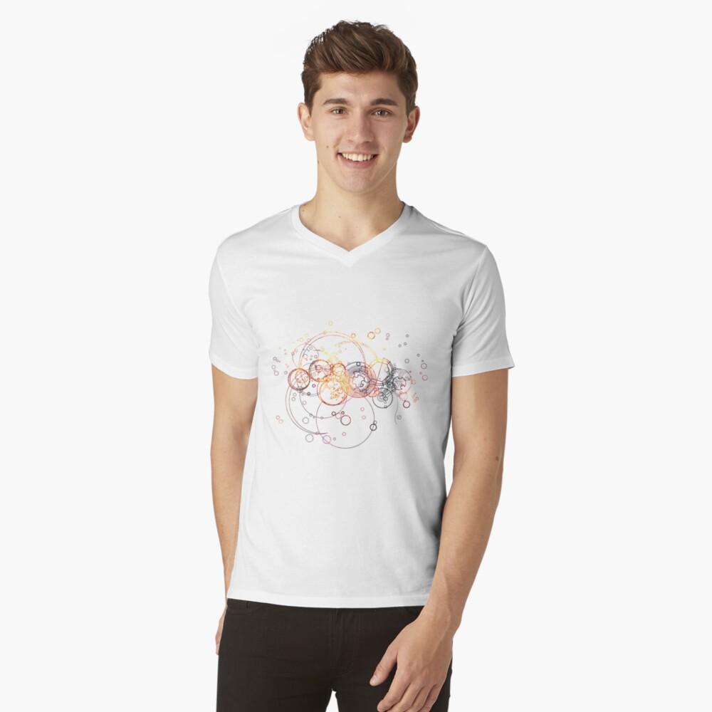 Time Lord Writing (purple) V-Neck T-Shirt