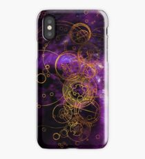 Time Lord Writing (purple) iPhone Case