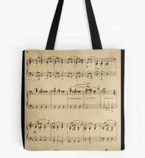 fragment with music  notes Tote Bag
