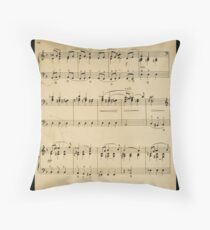 fragment with music  notes Throw Pillow
