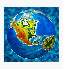 globe, in a center north America Photographic Print