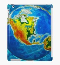 globe, in a center north America iPad Case/Skin