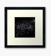 Time Lord Writing (silver) Framed Print