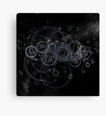 Time Lord Writing (silver) Canvas Print