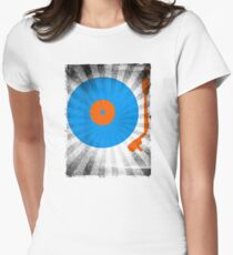 Vinyl Record Pop T-Shirt 2 Women's Fitted T-Shirt