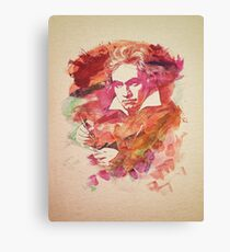 Ludwig van Beethoven Watercolor Remix  Canvas Print