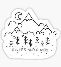 Pegatina Ríos y caminos
