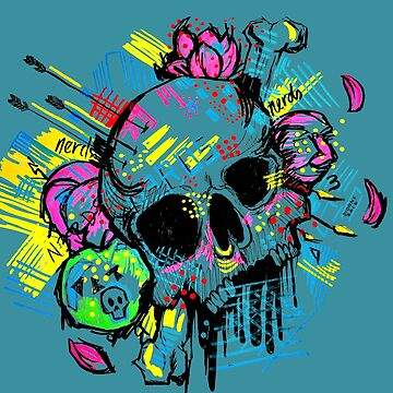 Graffiti Skull  by acompanyofn3rds