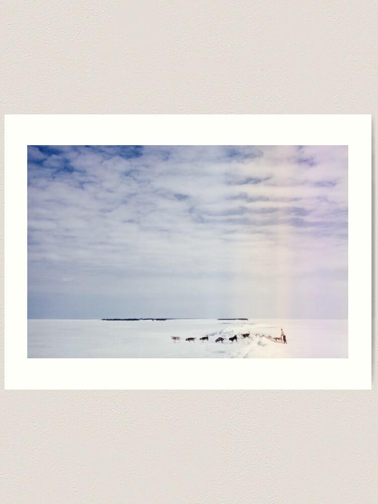 Alternate view of Across the Lake Art Print
