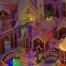 Christmas Gingerbread Village Panorama by Stephen Frost